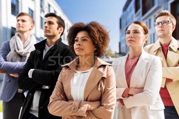 международных группа людей городской улице бизнеса образование корпоративного Сток-фото © dolgachov
