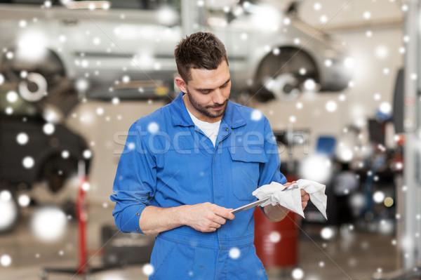 ストックフォト: レンチ · 車 · ワークショップ · サービス · 修復