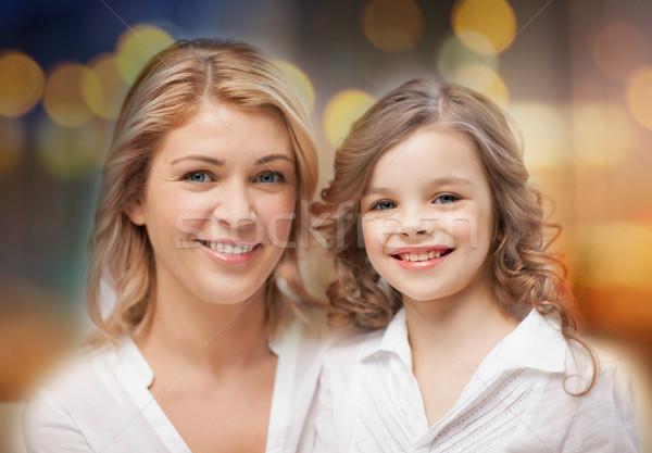 Feliz mãe pequeno filha retrato família Foto stock © dolgachov