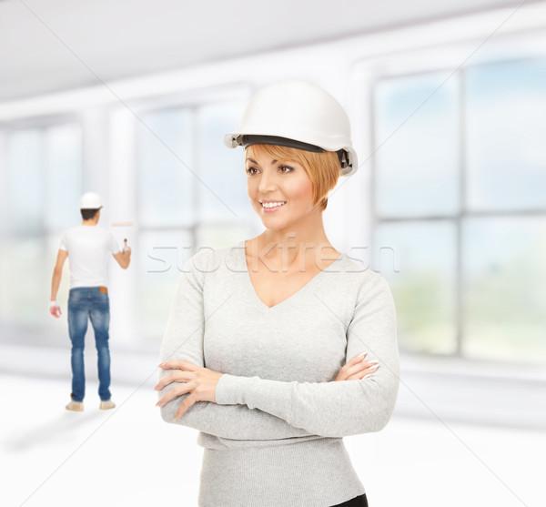 contractor and builder Stock photo © dolgachov