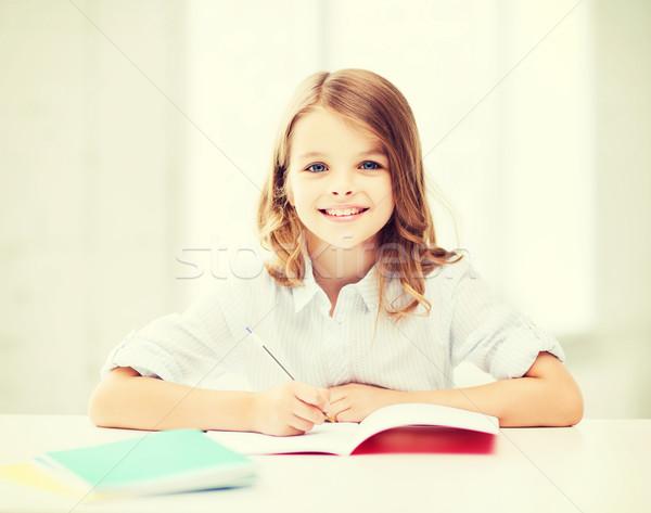 Foto stock: Estudiante · nina · estudiar · escuela · educación · pequeño