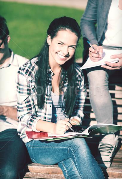 группа студентов подростков подвесной из лет Сток-фото © dolgachov