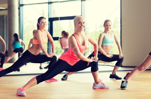 グループ 女性 ジム フィットネス スポーツ ストックフォト © dolgachov