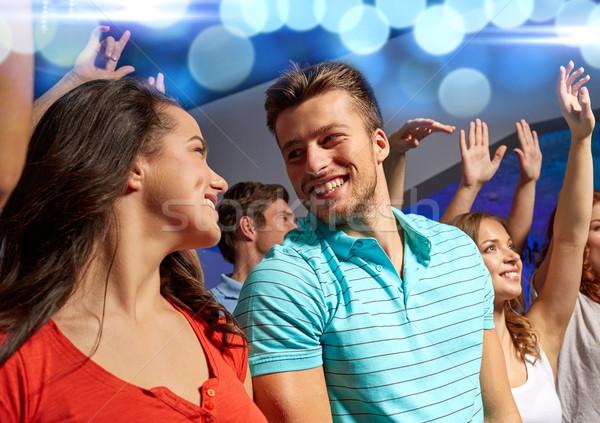Mosolyog barátok koncert klub buli ünnepek Stock fotó © dolgachov