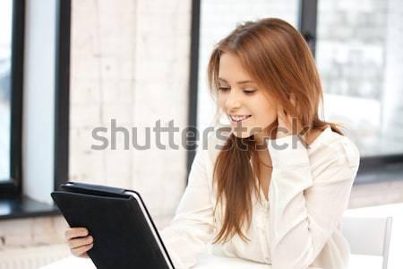 笑みを浮かべて 女性実業家 学生 教育 ビジネス ストックフォト © dolgachov