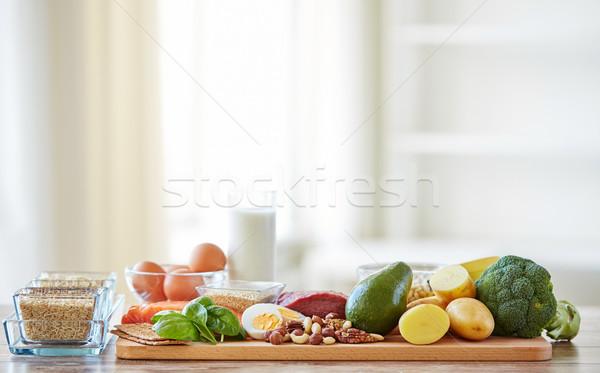 Stok fotoğraf: Farklı · gıda · tablo · dengeli · beslenme · pişirme