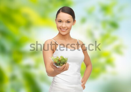 красивая женщина белье Cherry Blossom люди красоту тело Сток-фото © dolgachov