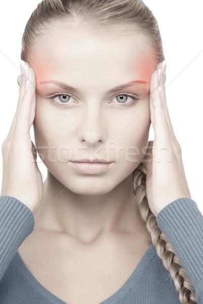 Malheureux femme photos visage de femme blanche triste Photo stock © dolgachov