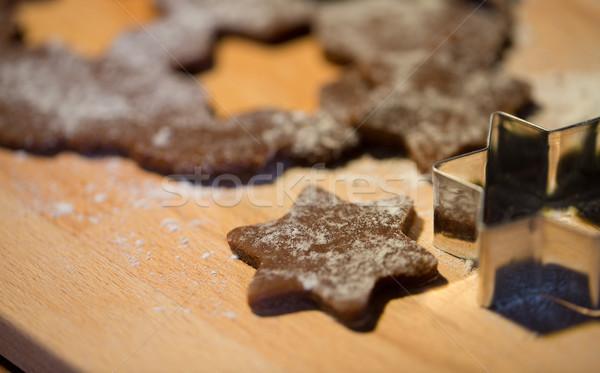 Imbir mąka pokładzie gotowania Zdjęcia stock © dolgachov