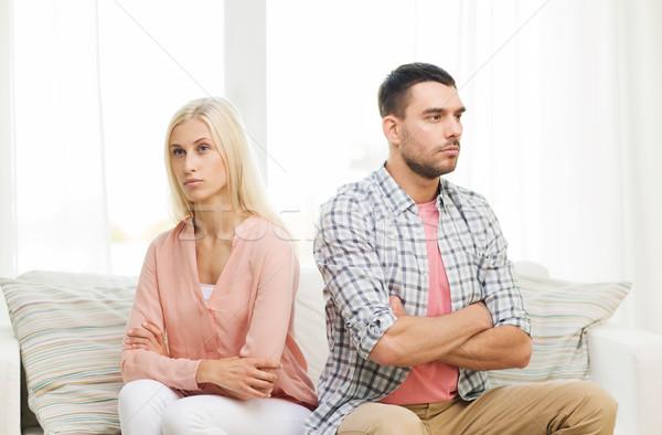 Infeliz casal argumento casa pessoas relação Foto stock © dolgachov