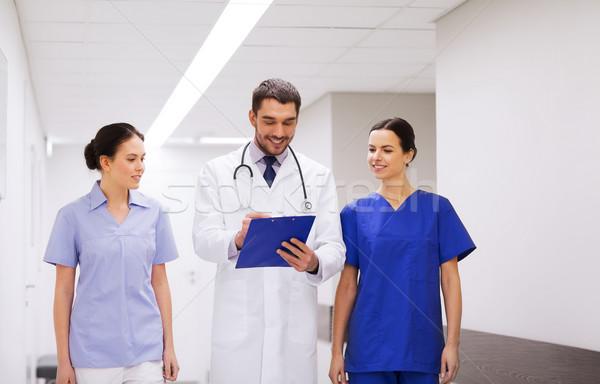 группа больницу буфер обмена клинике профессия люди Сток-фото © dolgachov