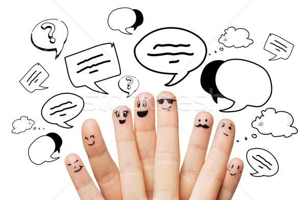 Mani dita messaggi comunicazione famiglia Foto d'archivio © dolgachov