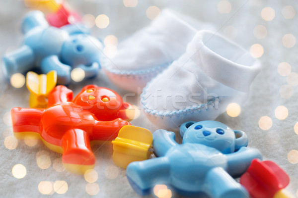 ребенка греметь детство игрушками Сток-фото © dolgachov