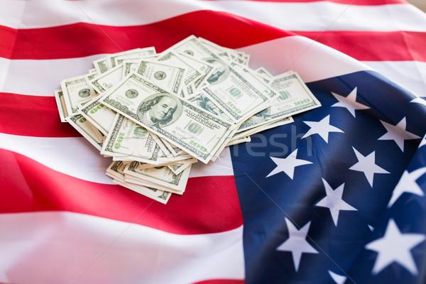американский флаг доллара наличных деньги бюджет Сток-фото © dolgachov