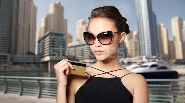 красивой элегантный черный Солнцезащитные очки торговых Сток-фото © dolgachov