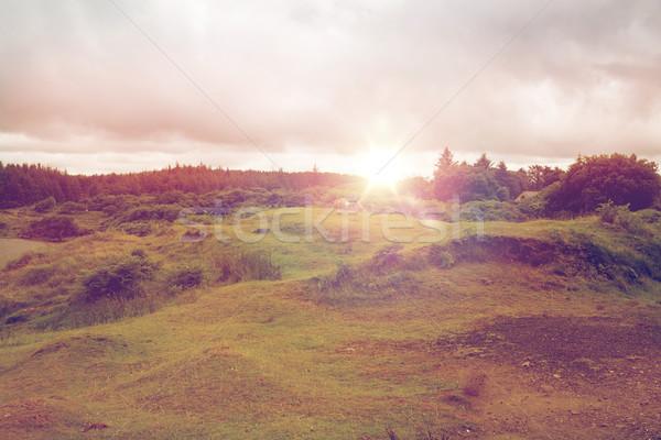 view to plain and lake at connemara in ireland Stock photo © dolgachov