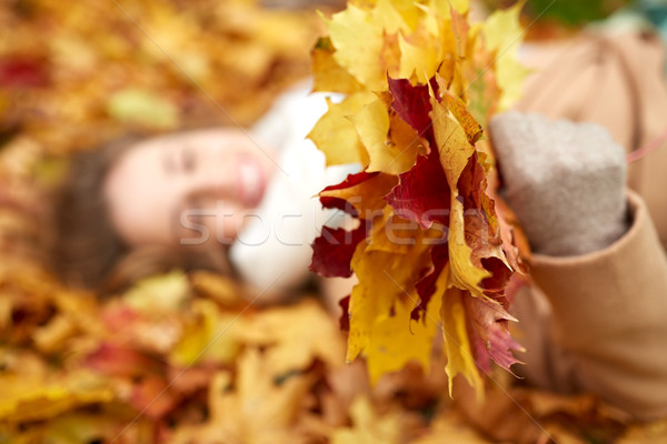 Photo stock: Heureux · femme · saison · personnes