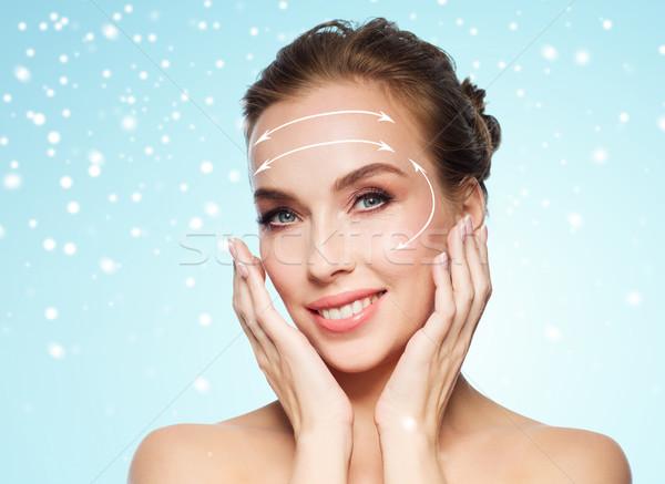Zdjęcia stock: Piękna · kobieta · twarz · piękna · chirurgia · plastyczna