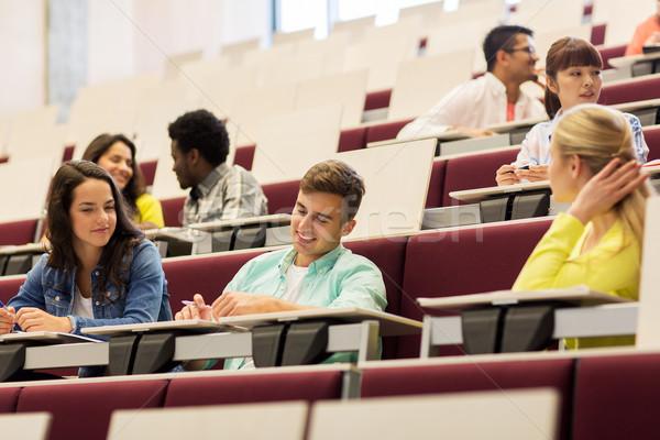 グループ 学生 講義 ホール 教育 ストックフォト © dolgachov