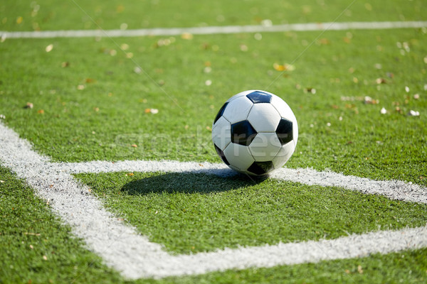 soccer ball on football field Stock photo © dolgachov