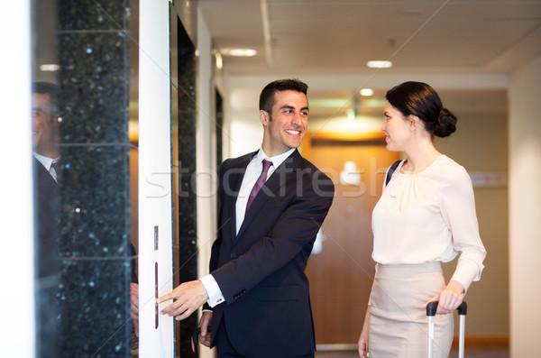 ビジネスチーム 旅行 袋 ホテル エレベーター 出張 ストックフォト © dolgachov
