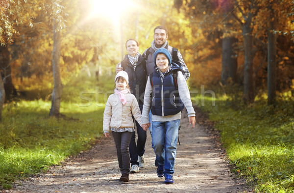 Сток-фото: счастливая · семья · походов · Adventure · путешествия · туризма · поход