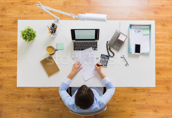 üzletasszony adó jelentés iroda üzlet könyvelés Stock fotó © dolgachov