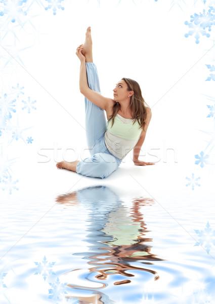 цапля создают девушки воды Сток-фото © dolgachov