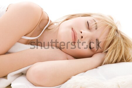 sleeping girl Stock photo © dolgachov