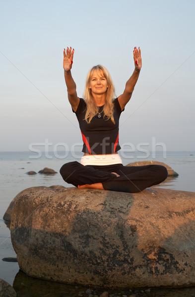 meditation at the seashore #2 Stock photo © dolgachov