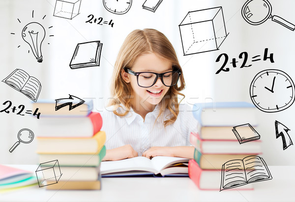 Student dziewczyna studia szkoły edukacji mały Zdjęcia stock © dolgachov