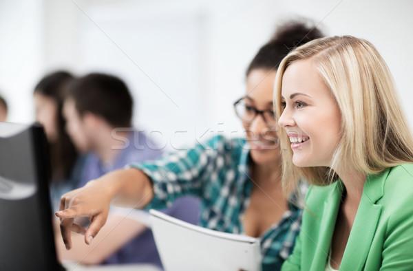 学生 コンピュータ 勉強 学校 教育 技術 ストックフォト © dolgachov