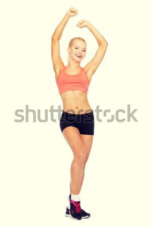 Mooie vrouw dansen sport fitness Stockfoto © dolgachov