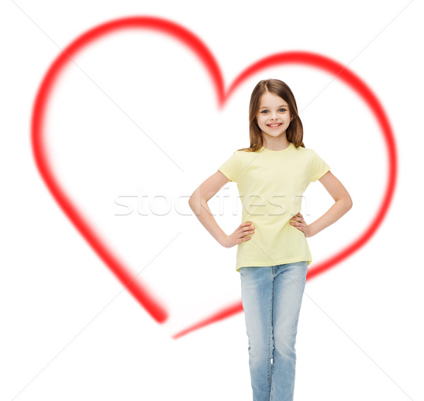 smiling little girl in casual clothes Stock photo © dolgachov