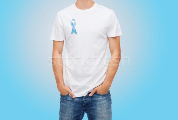 Stok fotoğraf: Adam · mavi · prostat · kanser · farkında · olma · şerit