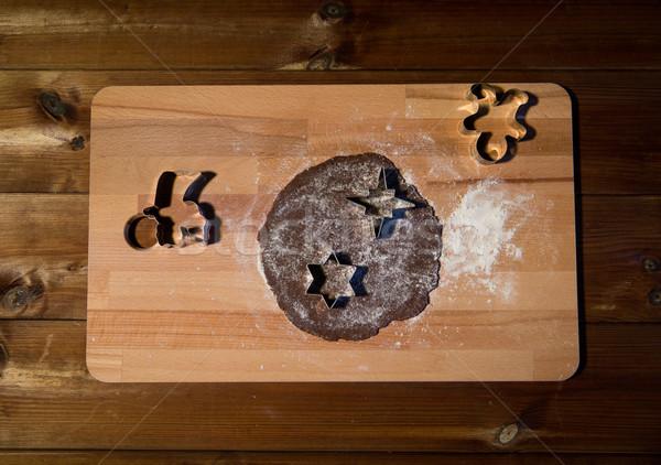 Zencefil un tahta pişirme Stok fotoğraf © dolgachov