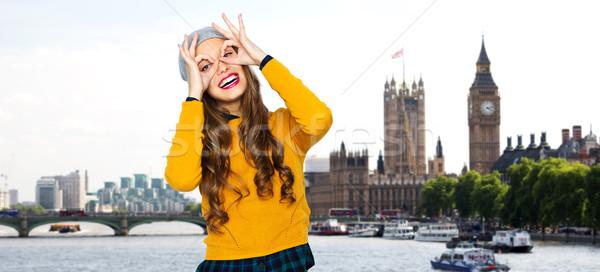 Gelukkig jonge vrouw tienermeisje mensen reizen Stockfoto © dolgachov