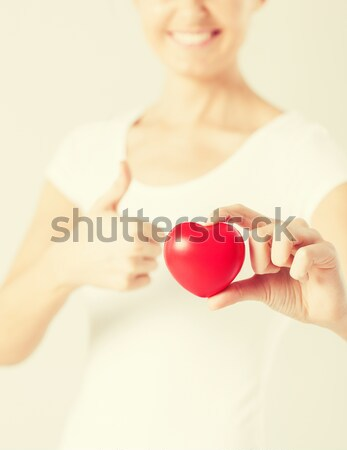 close up of happy married lesbian couple hands Stock photo © dolgachov