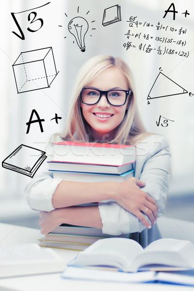 öğrenci kitaplar karalamalar eğitim okul Stok fotoğraf © dolgachov