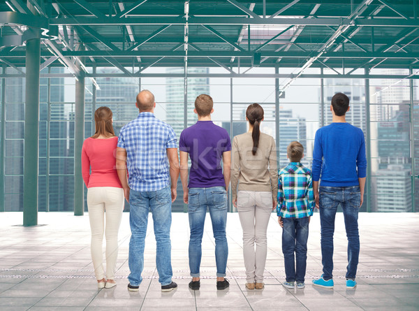 group of people from back Stock photo © dolgachov
