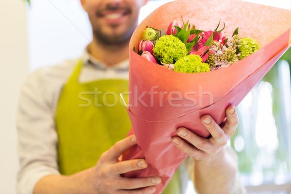 Florista personas compras Foto stock © dolgachov