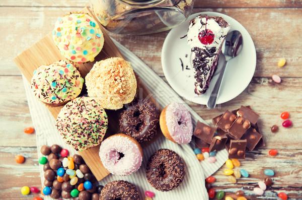 конфеты таблице кулинарный Сток-фото © dolgachov
