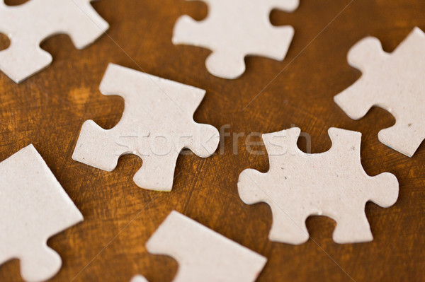 Puzzleteile Holz Oberfläche Business Verbindung Stock foto © dolgachov