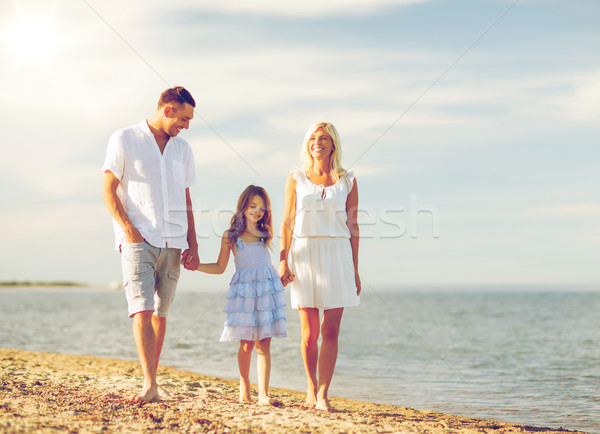 happy family at the seaside Stock photo © dolgachov