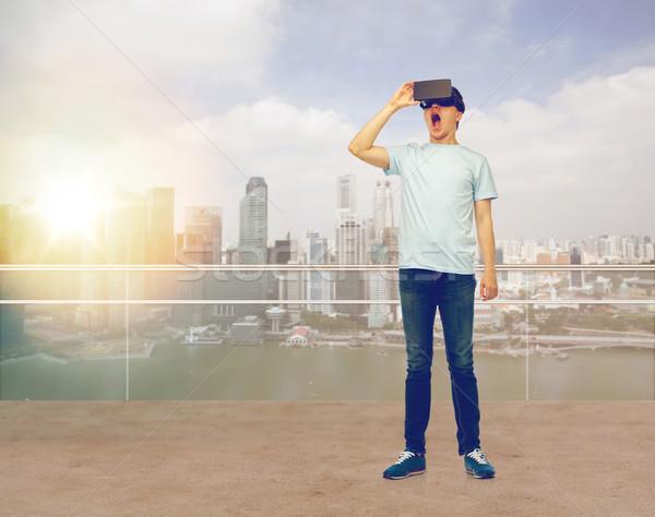 男 バーチャル 現実 ヘッド 3dメガネ 3D ストックフォト © dolgachov