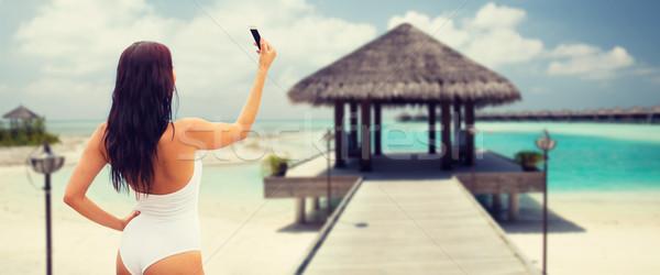 Smartphone estate viaggio tecnologia Foto d'archivio © dolgachov