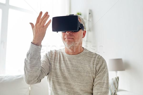 старик виртуальный реальность гарнитура 3d очки технологий Сток-фото © dolgachov