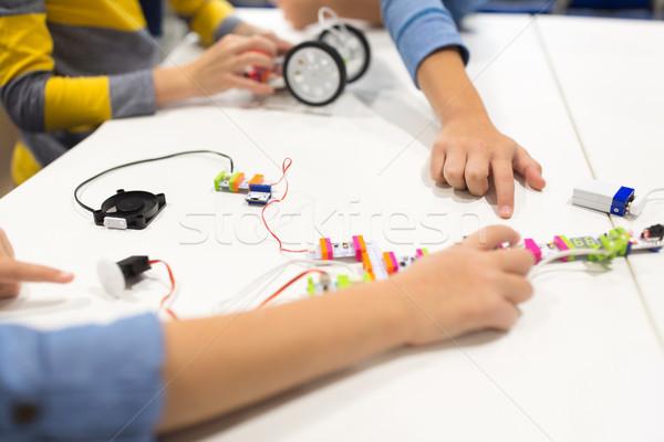子供 建物 キット ロボット工学 学校 教育 ストックフォト © dolgachov
