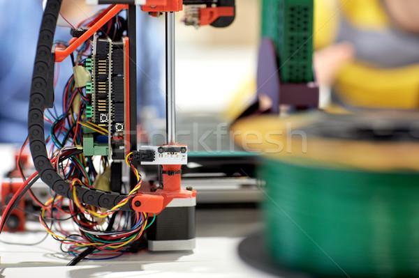 printer 3d at robotics school Stock photo © dolgachov