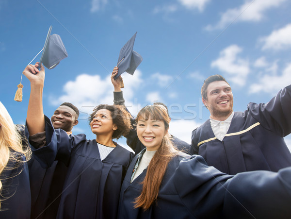 Feliz solteros cielo educación graduación Foto stock © dolgachov